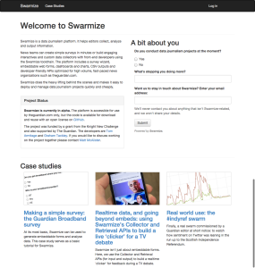 Swarmize-homepage